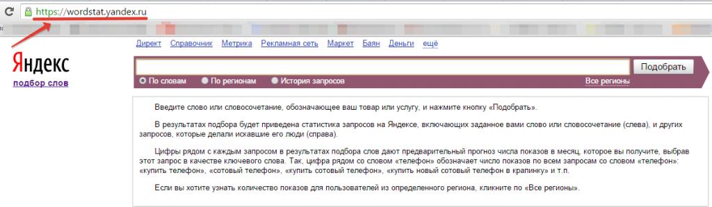 Фото сервиса Yandex Wordstat